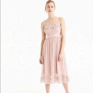 NWT J Crew Pink Tulle Midi Dress